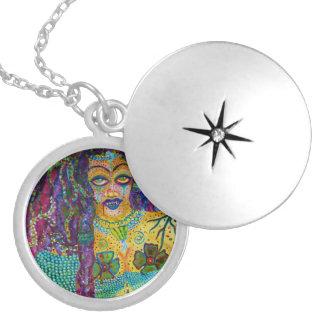 """La Sirene"" Mermaid Yemaya Acrylic Painting Necklaces"