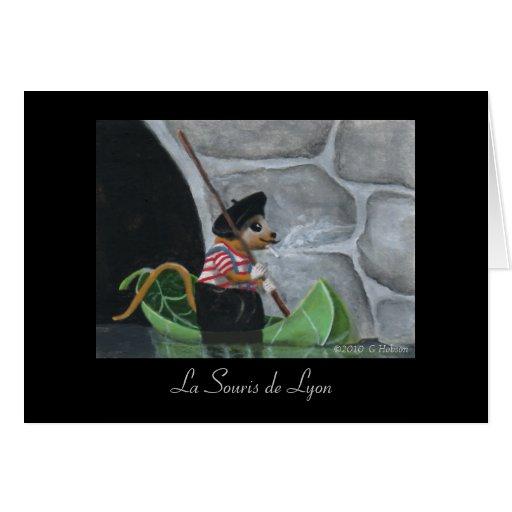 La Souris de Lyon Miniature Art Print Greeting Card