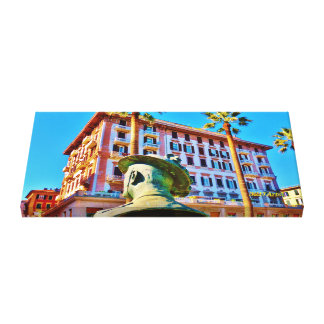 La Spezia Waterfront Military Bust, Wrapped Canvas Gallery Wrap Canvas