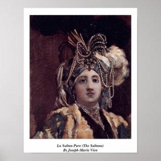 La Sultan Pure (The Sultana) By Joseph-Marie Vien Poster