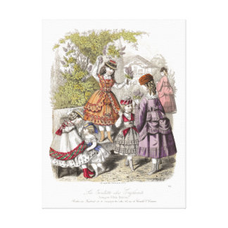 La Toilette des Enfants Vintage Fashions Canvas Print