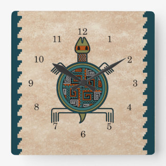La Tortuga Square Wall Clock