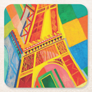 La Tour Eiffel by Robert Delaunay Square Paper Coaster