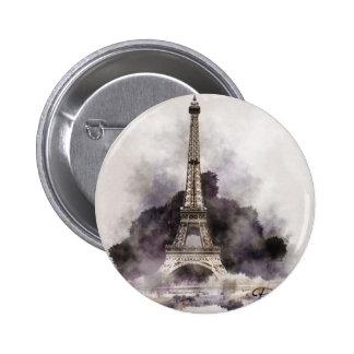 La Tour Eiffel de Paris Badges Avec Agrafe
