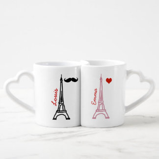 la tour eiffel paris france coffee mug set