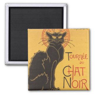 La tournée du Chat Noir Square Magnet