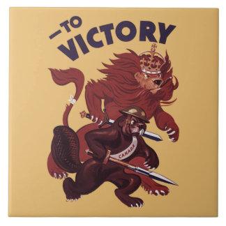 La Victoire Nous Canada ~ To Victory Canada 1941 ~ Tile