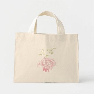 la vie en rose canvas bags