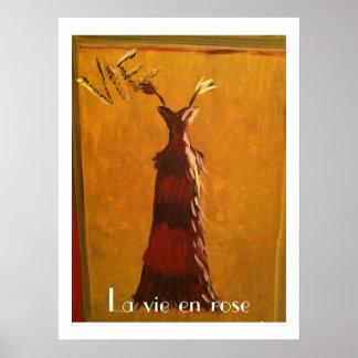 La vie en rose Ballgown Print