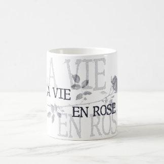 La Vie En Rose Basic White Mug