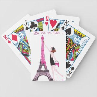 La vie en rose bicycle playing cards