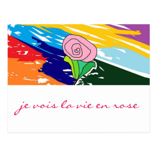 La vie en Rose card Postcard