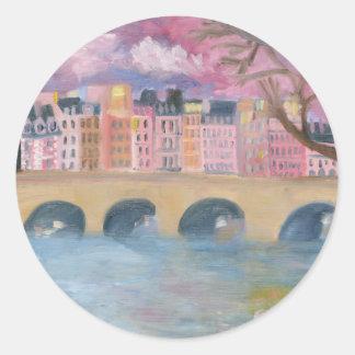 """La Vie en Rose"" Classic Round Sticker"