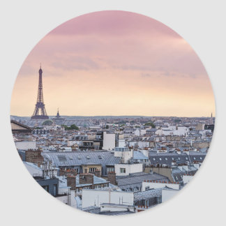 La Vie En Rose Eiffel Tower Photo Sticker