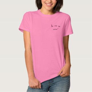 la vie en rose! embroidered shirt