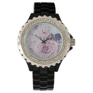 La Vie En Rose French Shabby Chic Dusky Rose Watch