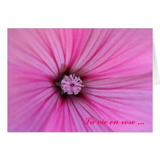 La vie en rose ... greeting card