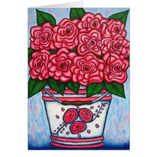 La Vie en Rose Greeting/Note Card