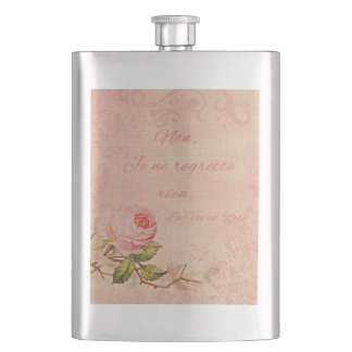 La Vie En Rose Hip Flasks