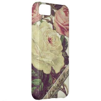 La Vie En Rose l Vintage Floral iPhone 5C Cover