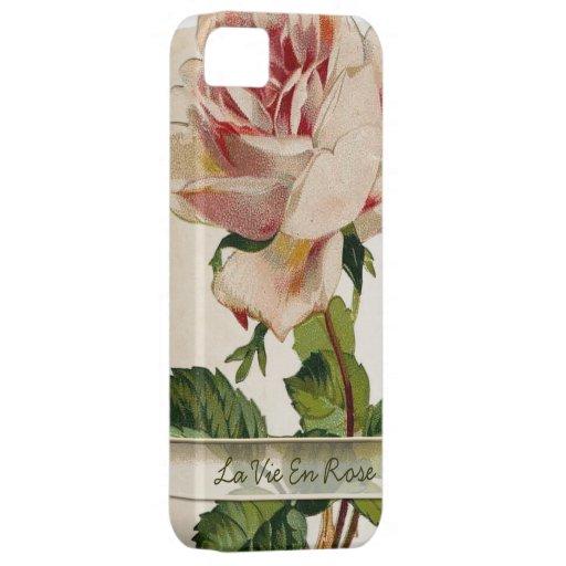 La Vie En Rose l Vintage Floral iPhone 5 Case