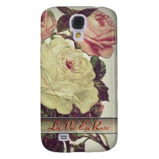 La Vie En Rose l Vintage Floral Galaxy S4 Covers