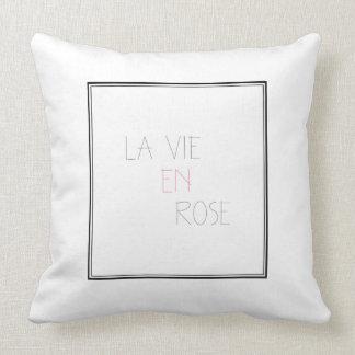 La Vie En Rose - Life In Pink Cushion