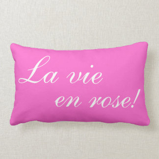 La vie en rose Lumbar Throw Pillow Cushions