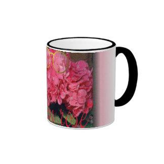 """""""la vie en rose"""" ringer coffee mug"""