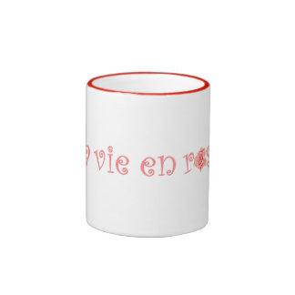 La Vie En Rose Ringer Mug