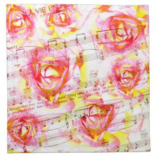 La vie en rose napkins
