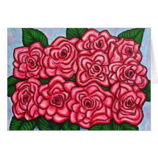 La Vie en Rose Note Card