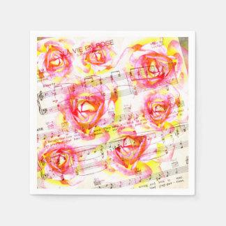 La vie en rose paper serviette paper napkins
