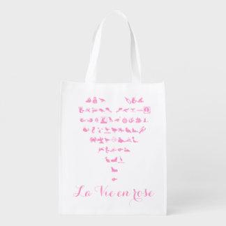 La Vie en Rose - Reusable Grocery Bag