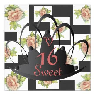 """La Vie En Rose"" Sweet Sixteen Invit.-Customize Invite"
