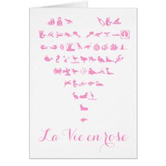 La Vie en Rose Valentine's day Greeting Card