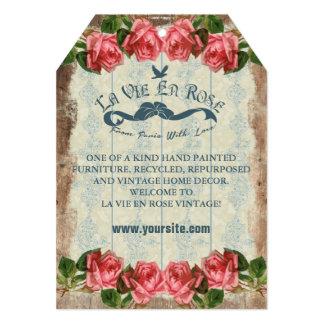 La Vie En Rose Vintage ~ Price Tag Card