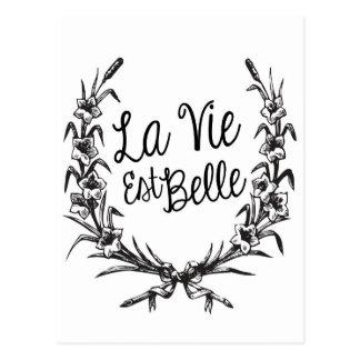 La Vie Est Belle Postcard
