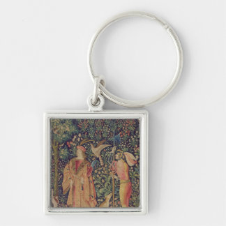 La Vie Seigneuriale - Leaving for the Hunt Silver-Colored Square Key Ring
