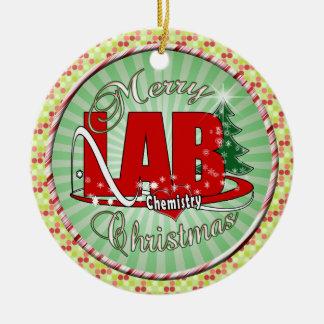 LAB CHEMISTRY CHRISTMAS CERAMIC ORNAMENT