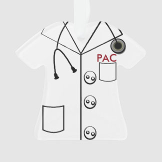 LAB COAT PAC ORNAMENT CHRISTMAS (CUSTOMIZABLE)
