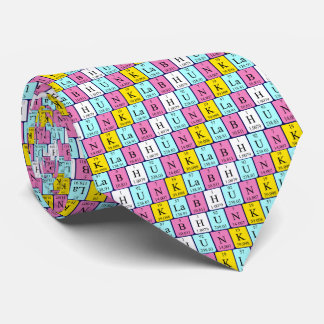 Lab Hunk periodic table name tie