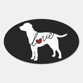 Lab Love Oval Sticker