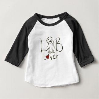 Lab Lover Baby 3/4 Sleeve Raglan Shirt
