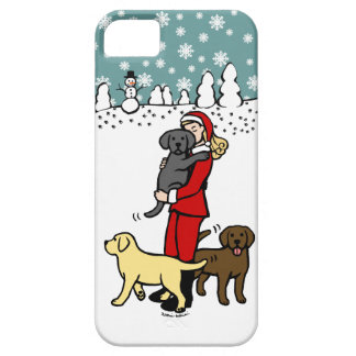 Lab Mom Santa Christmas Case For The iPhone 5