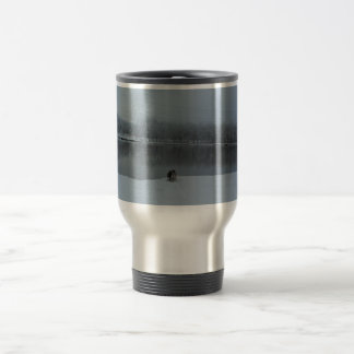 Lab on a snowy day stainless steel travel mug