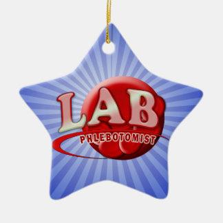 LAB PHLEBOTOMIST RBC LOGO CERAMIC ORNAMENT