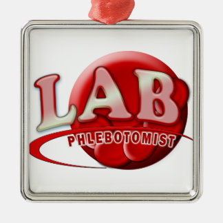 LAB PHLEBOTOMIST RBC LOGO METAL ORNAMENT