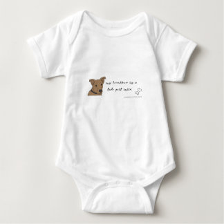 lab pit mix baby bodysuit