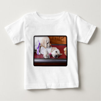 Lab Puppy Looking Down Baby T-Shirt